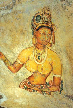 Sigiriya Rock Art at Lion Rock, Sri Lanka | Sigiriya Ceylon